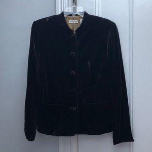 Ann Taylor brown velour 5 button up blazer